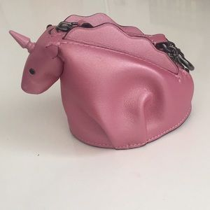 Coach Metallic Pink Unicorn Coin Purse/Clutch
